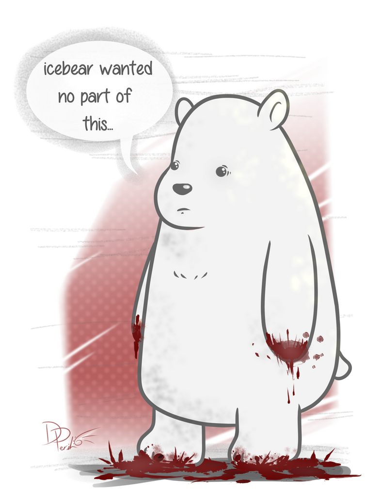 We Bare Bears - Icebear's had better days by ParallelPenguins
