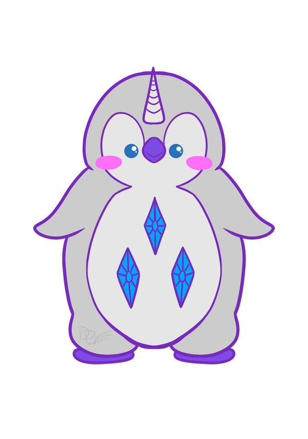 Rarity Penguin by ParallelPenguins