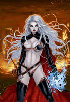 Lady Death #1 19th Anniversary by Ric1975