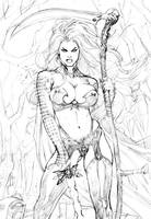 Lady Death 2013 (fragment) by Ric1975
