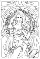 Lady Death: Regal Jewel Edition. Line Art. by Ric1975
