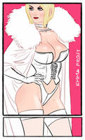 Emma Frost done for the #Sixfanarts challenge