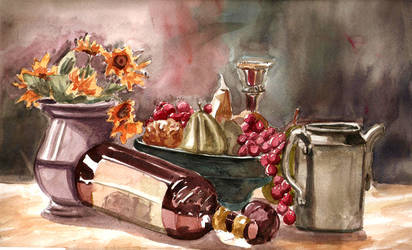 watercolour still life1 by vincentwolf