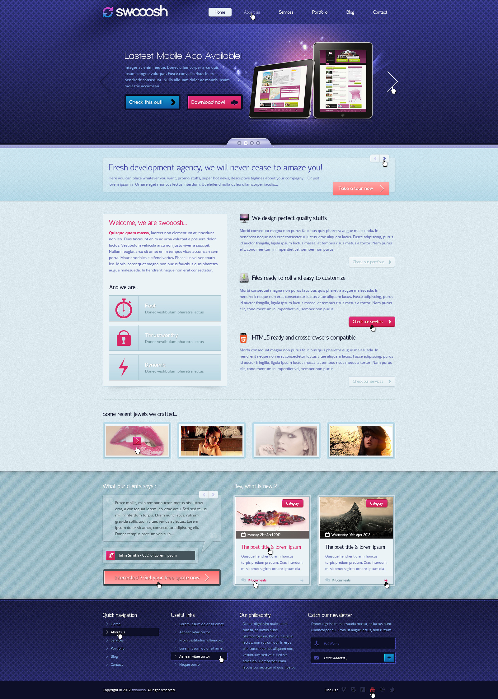 Swooosh - Colorful and Multipurpose PSD Template by arkgrafik