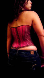 Painted Pink Corset - Back by Mtkld