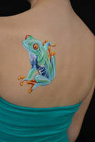 Red Eyed Tree Frog - BODY PAINT by Mtkld