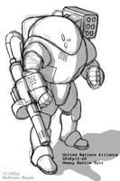 UNA Heavy Battlesuit by MrAverage
