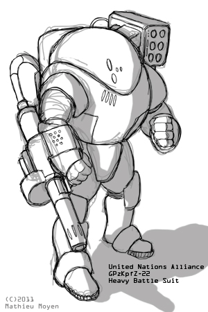 UNA Heavy Battlesuit by MrAverage
