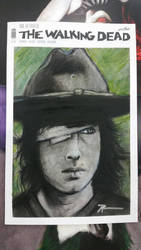 sketch cover original of Carl - Walking Dead