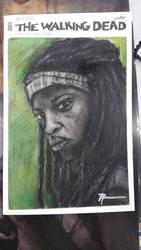 Original sketch covet of Michonne