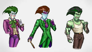Joker ,Riddler, Killer Croc