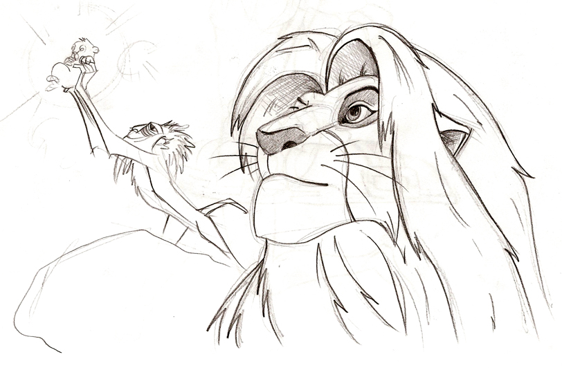 Lion King sketch test1 by Malici0us on DeviantArt