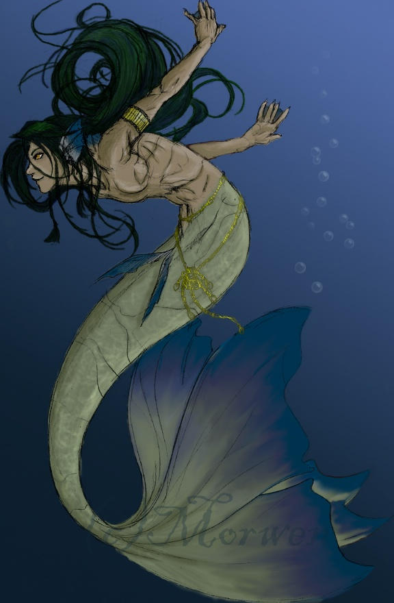 Raza: Sirenas/Tritones Merman_by_Morwen65536