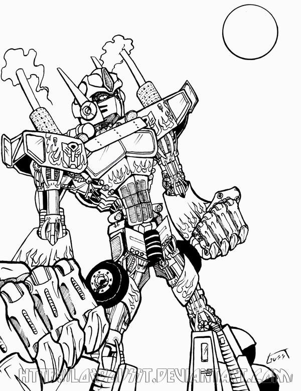 Imágenes de Optimus Prime para colorear - Imagui