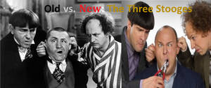 Old vs New - The Three Stooges Poster