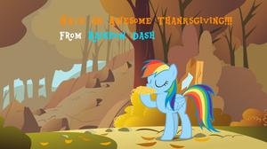 Rainbow Dash Celebrating Thanksgiving
