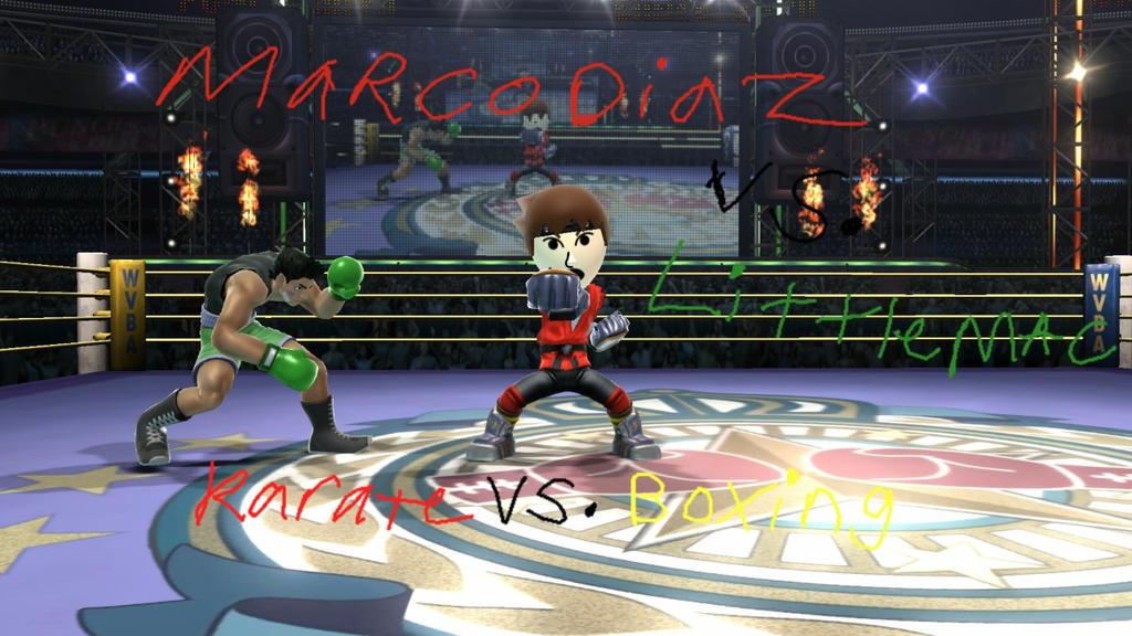 Marco Diaz vs Little Mac Poster by cartoonfan22