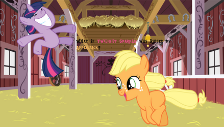 What If Twilight was raised by Applejack