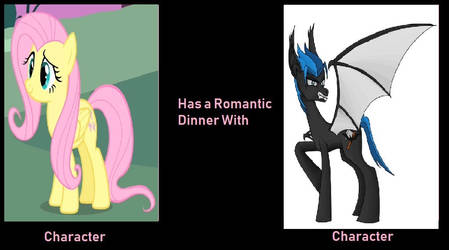 If Fluttershy and Terrorcreep have dinner together