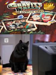 Salem Saberhagen watches Gravity Falls