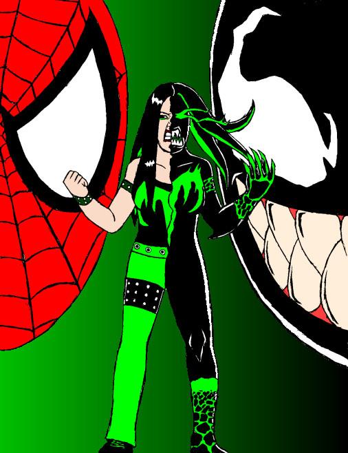 Spider-Man, Venom, and MsChif by X2j2012