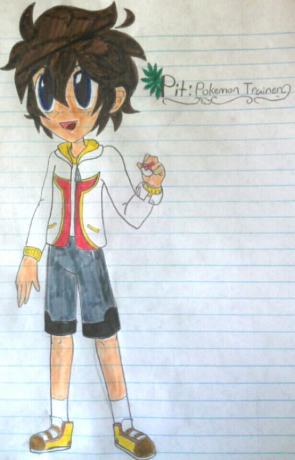 Kid Icarus Pokemon Pit The Trainer By SnivyFennkinGirl
