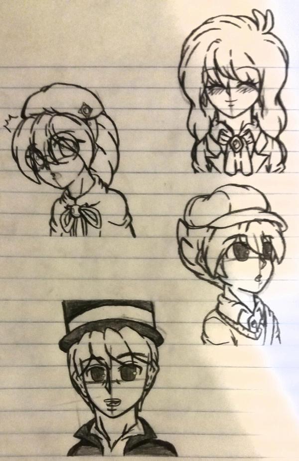 Professor Layton Sketches by SnivyFennkinGirl