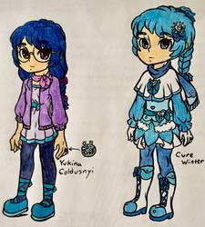 Season Blast PreCure-Yukina Coldusnyi/Cure Winter by SnivyFennkinGirl