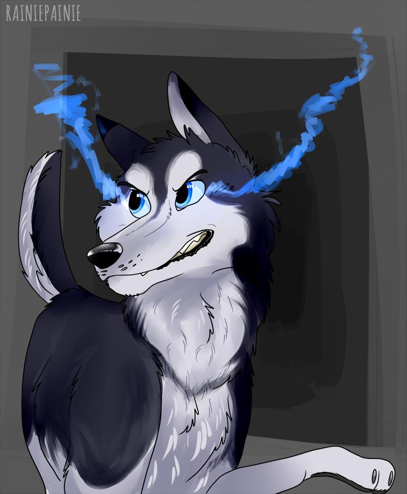 blue flame husky by BreyerKat