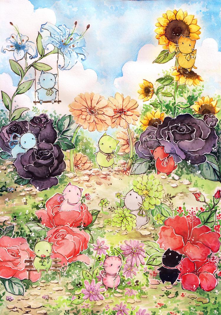 melonkitten flowergarden by Melonkitten