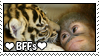 Orangutan and Tiger BFFs stamp by IcyCave-Stamp