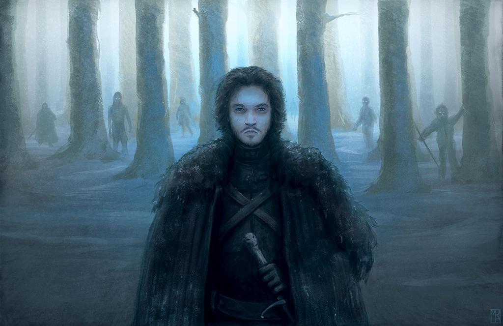 Jon Snow and White Walkers by MatthewRabalais