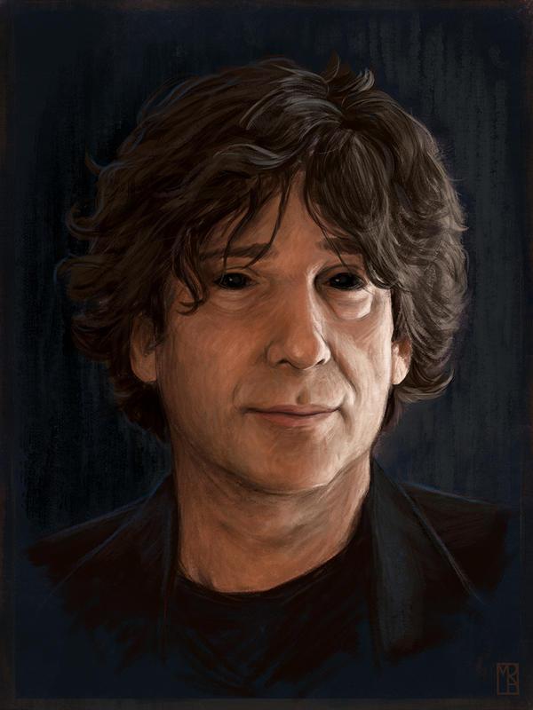 Portrait of Neil Gaiman by MatthewRabalais