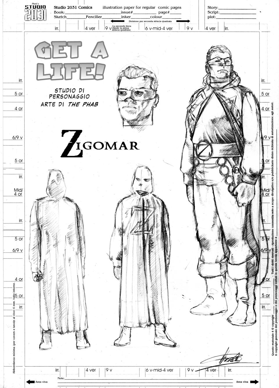 Studio di personaggio - Zigomar