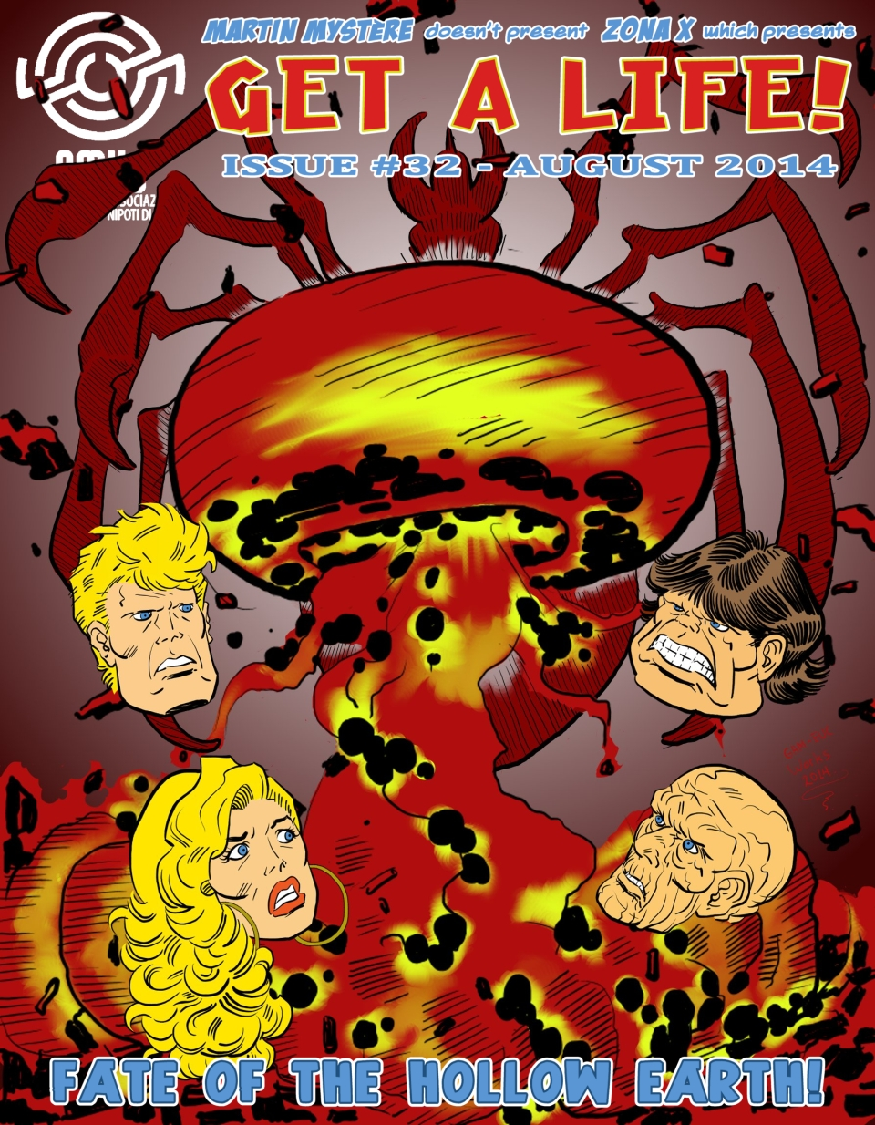 GAL 32 - The Hollow Earth Saga - part 4 - cover by martin-mystere