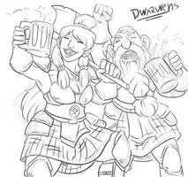 Dwarf warrior couple