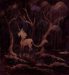 Unicorn Forest by melukilan