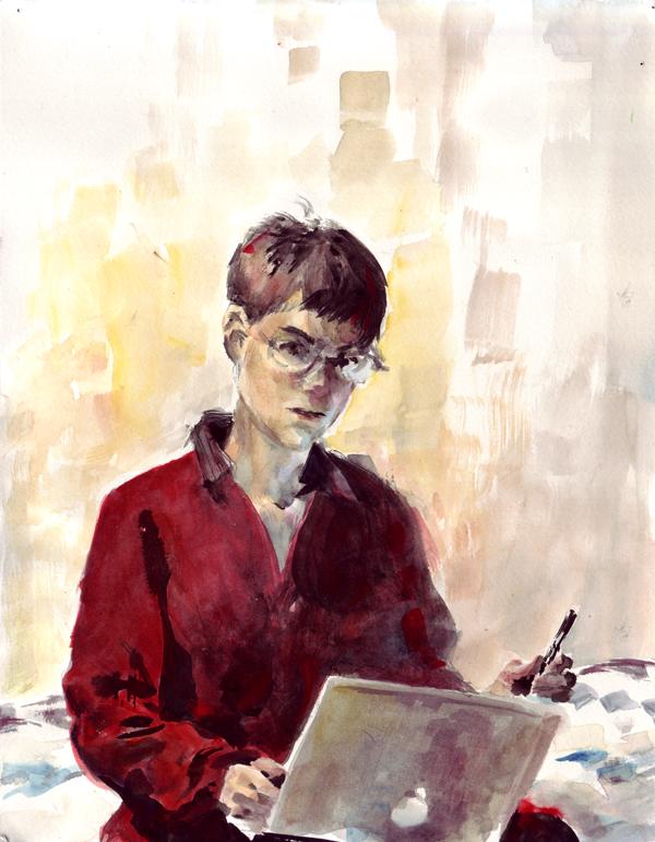 Self-portrait by melukilan