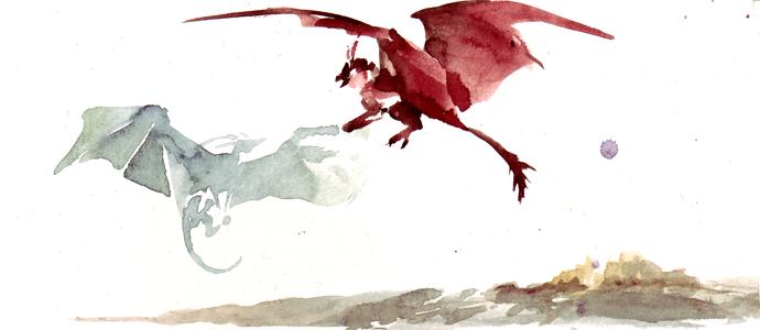 Dragon fight by melukilan