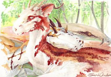 Sleepy dragons by melukilan