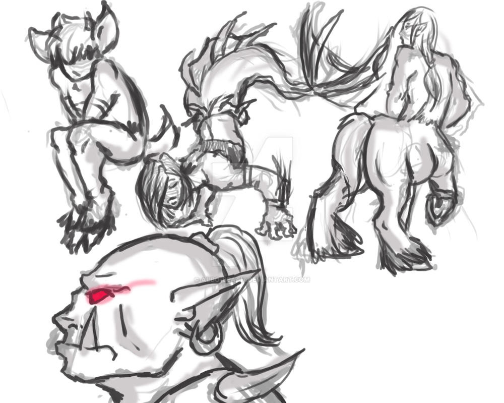 Mythical Creature Sketches by Albo-Beati7 on DeviantArt