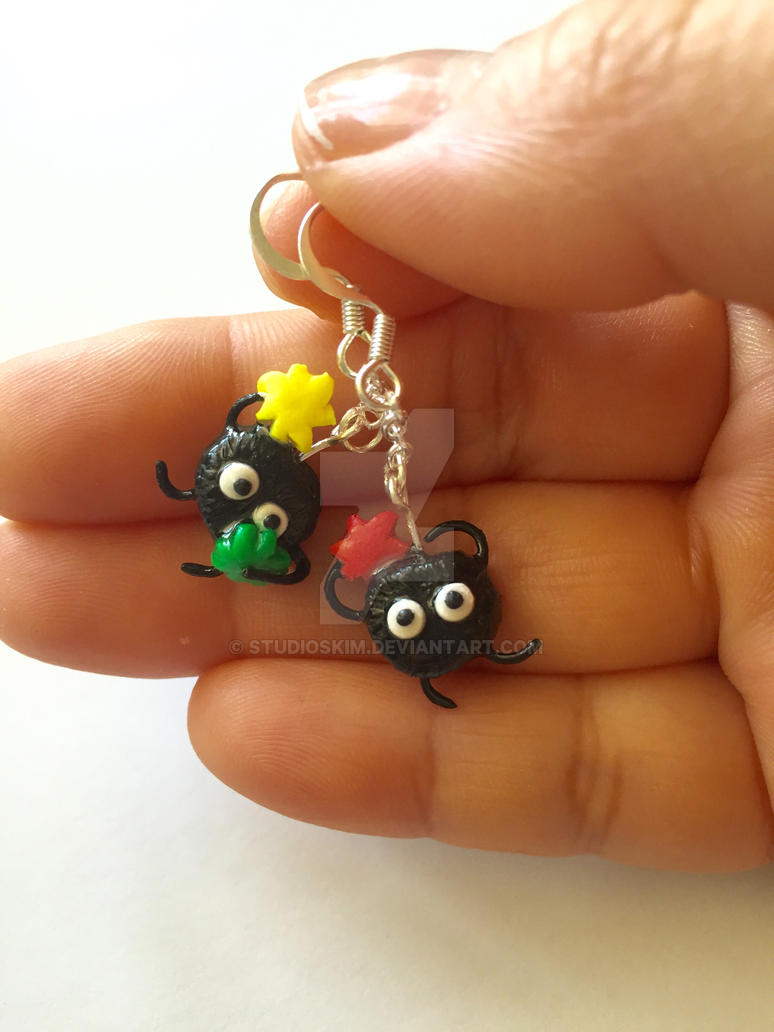 Soot Earrings from Spirited Away by StudioSkim
