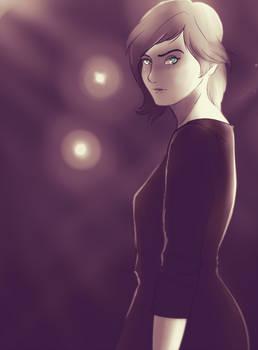Girl and Lights