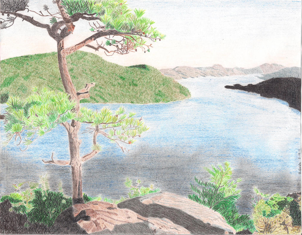 Lake George, NY - Colored Pencil Drawing by BGShepard on DeviantArt