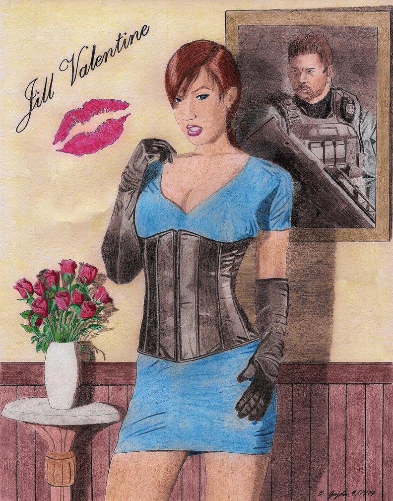 Jill Valentine - Pinup Art by BGShepard