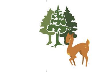 dear in the woods by jennifer-jane