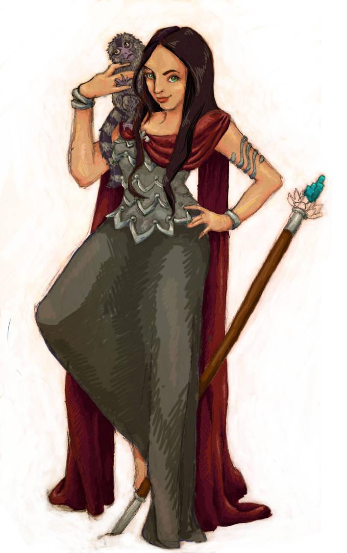 Vanya the Druid Elf by jennifer-jane