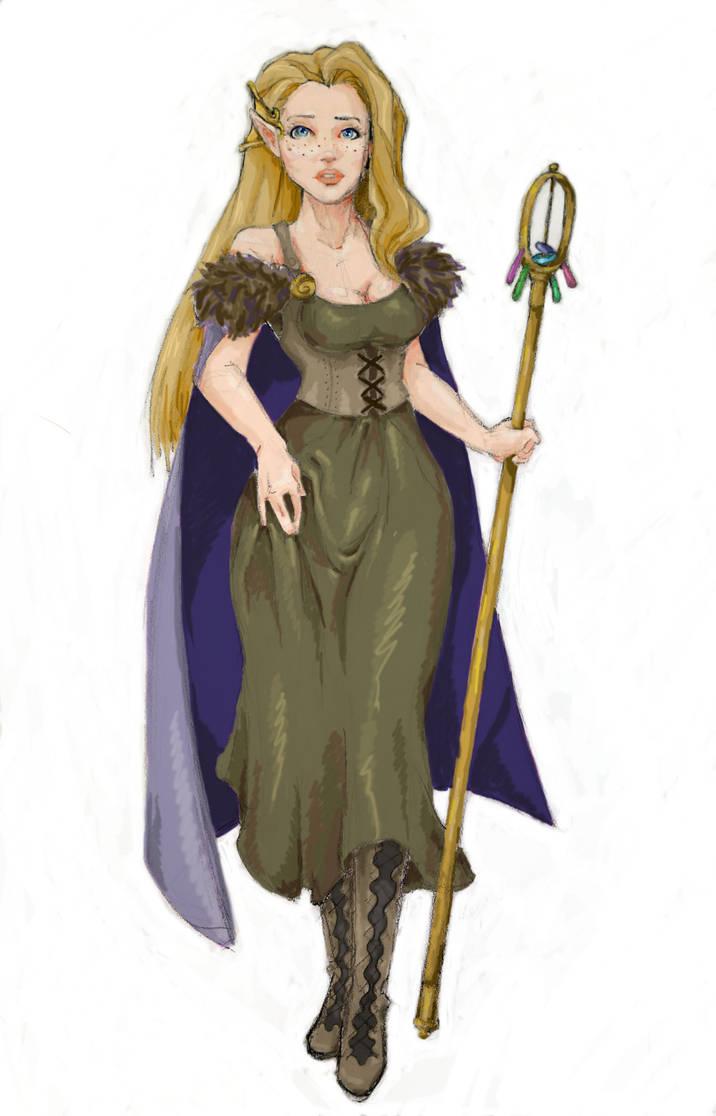 Reina the druid elf by jennifer-jane