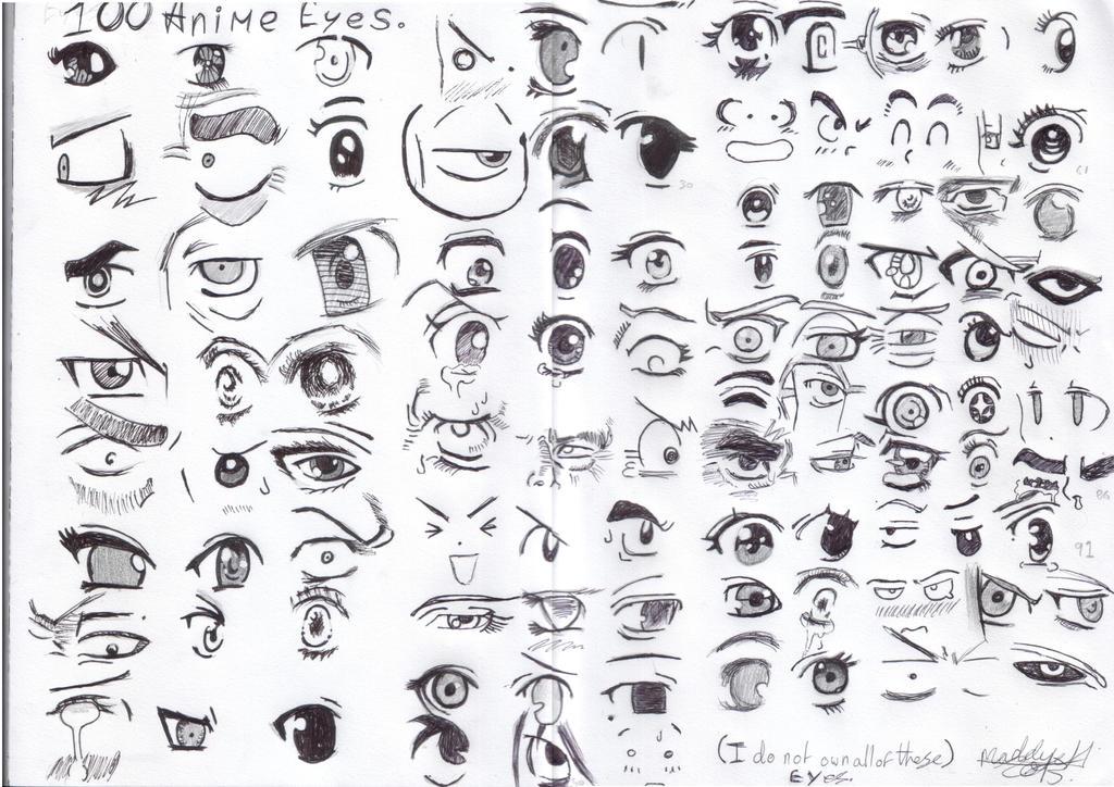 Anime Eye Shapes Anime Eyes by Jinchuriki10