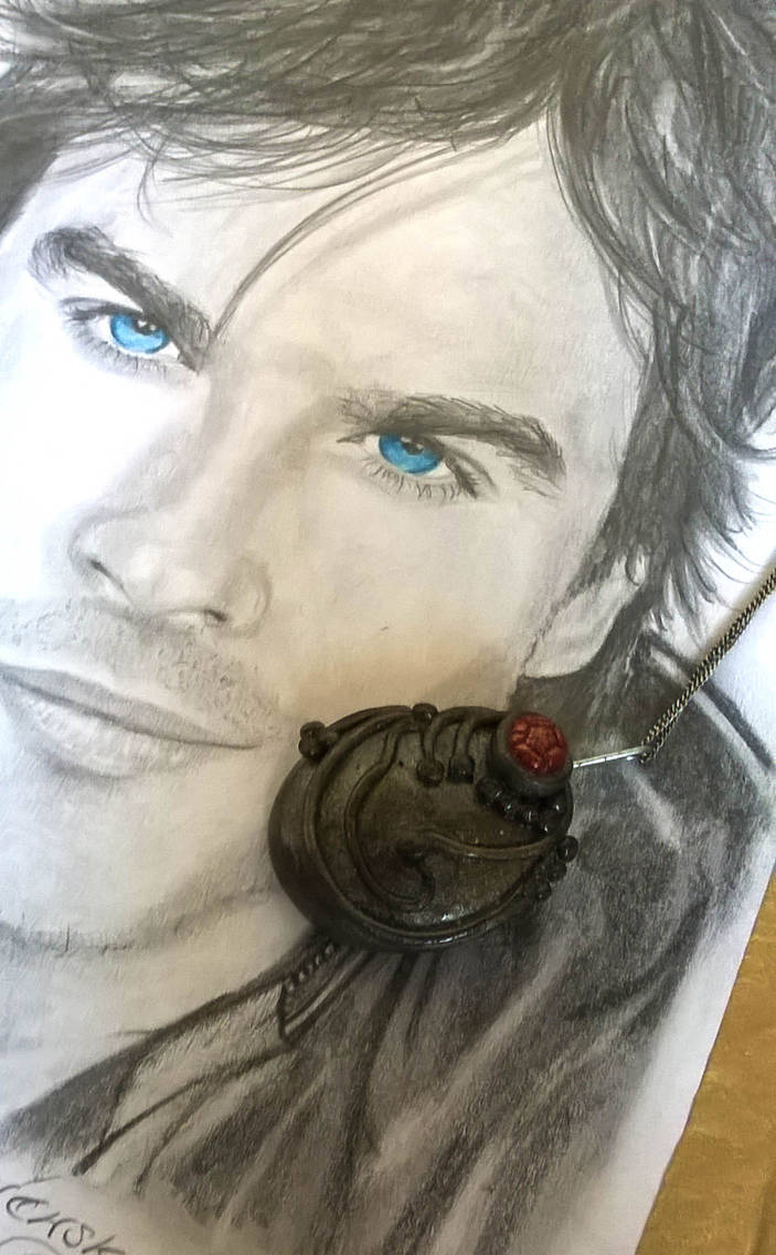 The Vampire Diaries Elena's vervain necklace  by soophieO on DeviantArt